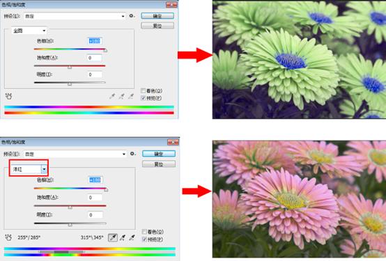 超简单的PS色相/饱和度使用方法和技巧