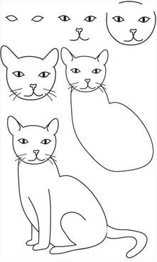 手绘插画教程——猫咪的15种画法,总有一款适合你!