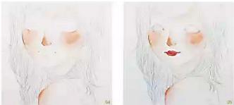 手绘插画小清晰女生头像教程