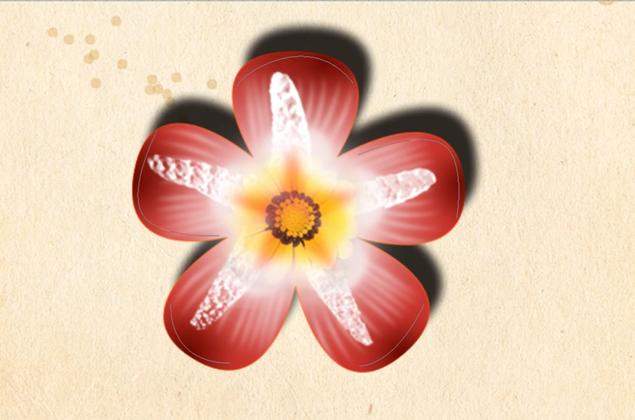 PS教程 如何制作一个特效花朵