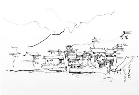 园林手绘教程——中国田园风景的手绘表达